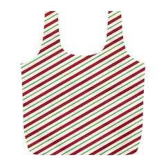 Stripes Striped Design Pattern Full Print Recycle Bags (l)