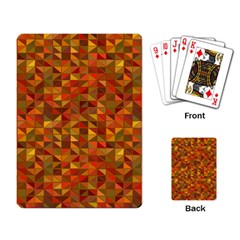Gold Mosaic Background Pattern Playing Card by Nexatart