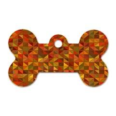 Gold Mosaic Background Pattern Dog Tag Bone (one Side) by Nexatart