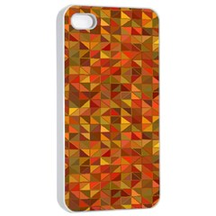 Gold Mosaic Background Pattern Apple Iphone 4/4s Seamless Case (white) by Nexatart