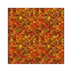 Gold Mosaic Background Pattern Acrylic Tangram Puzzle (6  x 6 )