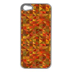 Gold Mosaic Background Pattern Apple Iphone 5 Case (silver) by Nexatart