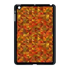 Gold Mosaic Background Pattern Apple Ipad Mini Case (black) by Nexatart