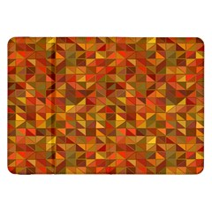 Gold Mosaic Background Pattern Samsung Galaxy Tab 8 9  P7300 Flip Case by Nexatart