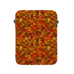 Gold Mosaic Background Pattern Apple Ipad 2/3/4 Protective Soft Cases by Nexatart