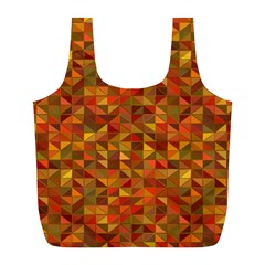 Gold Mosaic Background Pattern Full Print Recycle Bags (l)  by Nexatart