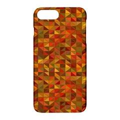 Gold Mosaic Background Pattern Apple Iphone 7 Plus Hardshell Case by Nexatart
