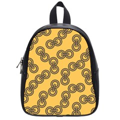 Abstract Shapes Links Design School Bags (small)  by Nexatart