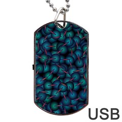 Background Abstract Textile Design Dog Tag Usb Flash (one Side) by Nexatart