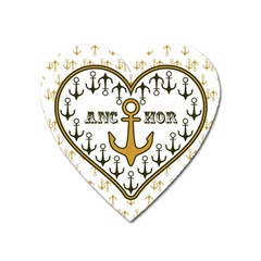 Anchor Heart Heart Magnet by Nexatart