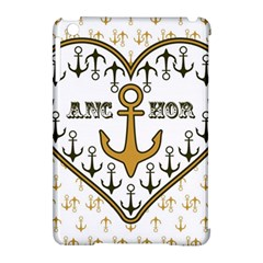 Anchor Heart Apple Ipad Mini Hardshell Case (compatible With Smart Cover) by Nexatart