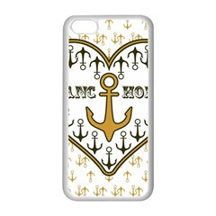 Anchor Heart Apple iPhone 5C Seamless Case (White)