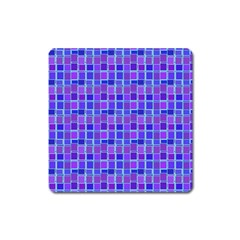 Background Mosaic Purple Blue Square Magnet by Nexatart