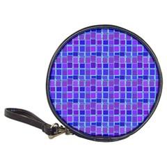 Background Mosaic Purple Blue Classic 20 Cd Wallets by Nexatart
