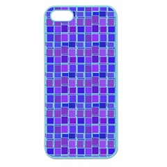 Background Mosaic Purple Blue Apple Seamless Iphone 5 Case (color) by Nexatart