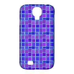 Background Mosaic Purple Blue Samsung Galaxy S4 Classic Hardshell Case (pc+silicone) by Nexatart