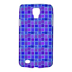 Background Mosaic Purple Blue Galaxy S4 Active by Nexatart