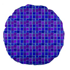 Background Mosaic Purple Blue Large 18  Premium Flano Round Cushions by Nexatart
