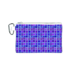 Background Mosaic Purple Blue Canvas Cosmetic Bag (s) by Nexatart