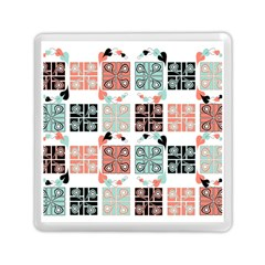 Mint Black Coral Heart Paisley Memory Card Reader (square)  by Nexatart