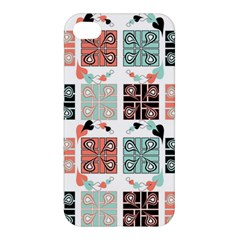 Mint Black Coral Heart Paisley Apple Iphone 4/4s Premium Hardshell Case by Nexatart