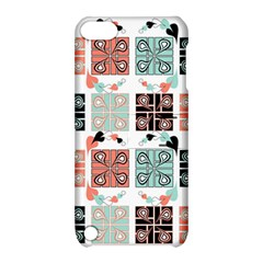 Mint Black Coral Heart Paisley Apple Ipod Touch 5 Hardshell Case With Stand by Nexatart