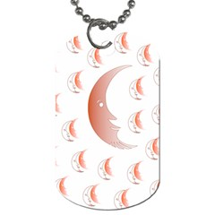 Moon Moonface Pattern Outlines Dog Tag (two Sides) by Nexatart