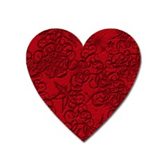 Christmas Background Red Star Heart Magnet by Nexatart