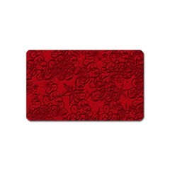 Christmas Background Red Star Magnet (name Card) by Nexatart
