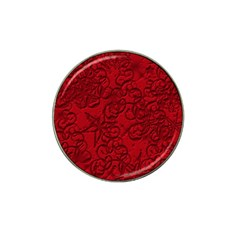 Christmas Background Red Star Hat Clip Ball Marker (4 Pack) by Nexatart