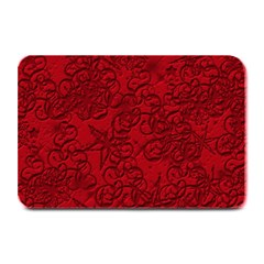 Christmas Background Red Star Plate Mats by Nexatart