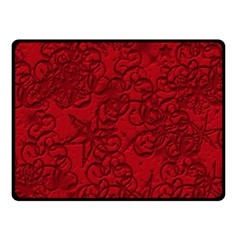 Christmas Background Red Star Fleece Blanket (small) by Nexatart
