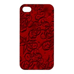 Christmas Background Red Star Apple Iphone 4/4s Hardshell Case by Nexatart