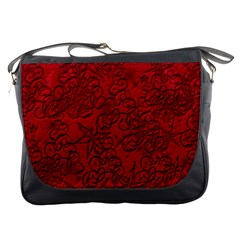 Christmas Background Red Star Messenger Bags by Nexatart