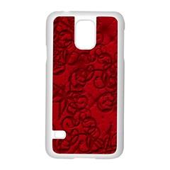 Christmas Background Red Star Samsung Galaxy S5 Case (white) by Nexatart
