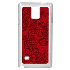 Christmas Background Red Star Samsung Galaxy Note 4 Case (white) by Nexatart