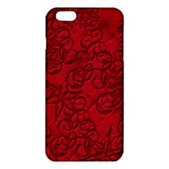 Christmas Background Red Star Iphone 6 Plus/6s Plus Tpu Case by Nexatart