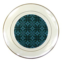Abstract Pattern Design Texture Porcelain Plates by Nexatart