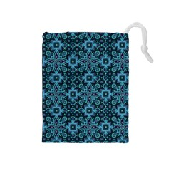 Abstract Pattern Design Texture Drawstring Pouches (medium)  by Nexatart