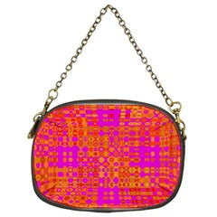 Pink Orange Bright Abstract Chain Purses (two Sides)  by Nexatart