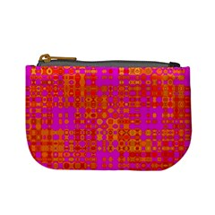 Pink Orange Bright Abstract Mini Coin Purses by Nexatart