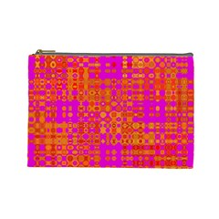 Pink Orange Bright Abstract Cosmetic Bag (large)  by Nexatart