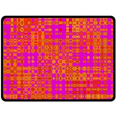 Pink Orange Bright Abstract Double Sided Fleece Blanket (large)  by Nexatart
