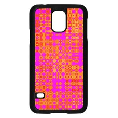 Pink Orange Bright Abstract Samsung Galaxy S5 Case (black) by Nexatart