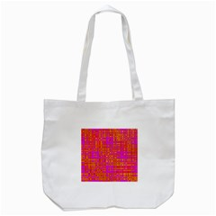 Pink Orange Bright Abstract Tote Bag (white) by Nexatart