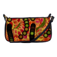 Abstract Background Digital Green Shoulder Clutch Bags by Nexatart