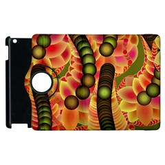 Abstract Background Digital Green Apple Ipad 2 Flip 360 Case by Nexatart