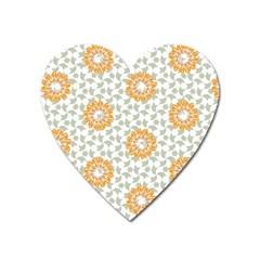 Stamping Pattern Fashion Background Heart Magnet by Nexatart