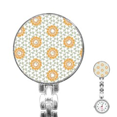 Stamping Pattern Fashion Background Stainless Steel Nurses Watch