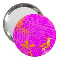 Spring Tropical Floral Palm Bird 3  Handbag Mirrors by Nexatart